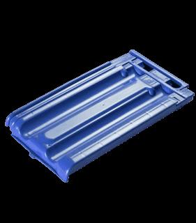 teja de policarbonato azul