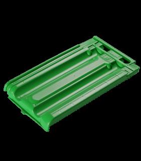 teja de policarbonato verde